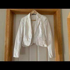 Auth Gucci white blazer pleated Tom Ford era 2003 Fall sz 40